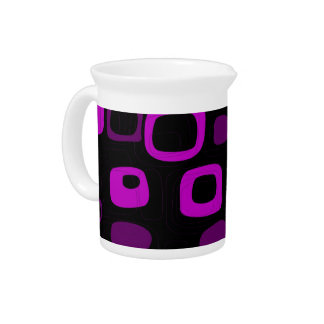 黒く、紫色、すみれ色のレトロの抽象美術 ピッチャー