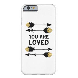 -黒く、金の電話箱愛されます BARELY THERE iPhone 6 ケース