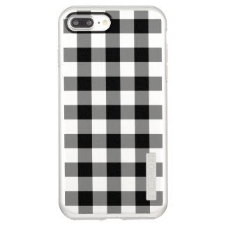 黒く、銀製のギンガムパターン INCIPIO DualPro SHINE iPhone 8 PLUS/7 PLUSケース