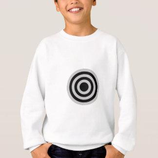 黒く、銀製の中心点 スウェットシャツ