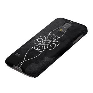 黒さシリーズクローバーの結び目の電話箱 GALAXY S5 ケース