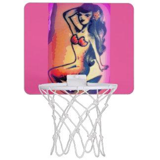 黒っぽい髪の人魚の美しいのピンク ミニバスケットボールゴール