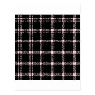 黒で淡いピンクの4つのバンド小さい正方形- ポストカード