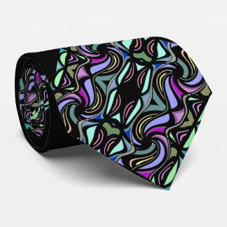 黒で男性へ虹色のファッションのタイ ネクタイ