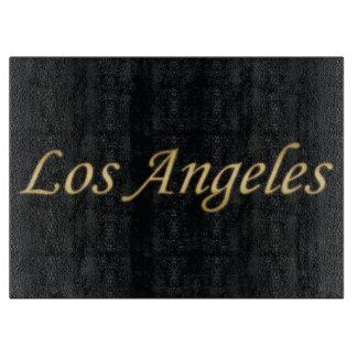 黒で金ロサンゼルス カッティングボード
