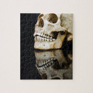 黒で隔離される鏡像の人間のスカル ジグソーパズル