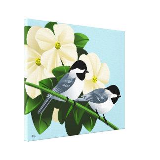 黒によっておおわれる《鳥》アメリカゴガラのキャンバスのプリント キャンバスプリント