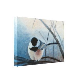 黒によっておおわれる《鳥》アメリカゴガラのキャンバスプリントのプリント キャンバスプリント