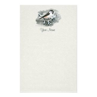 黒によっておおわれる《鳥》アメリカゴガラの鳥の中心の上 便箋
