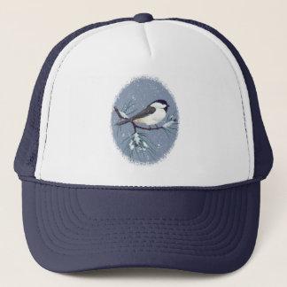 黒によっておおわれる《鳥》アメリカゴガラの鳥の楕円形 キャップ