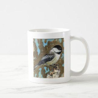黒によっておおわれる《鳥》アメリカゴガラ コーヒーマグカップ