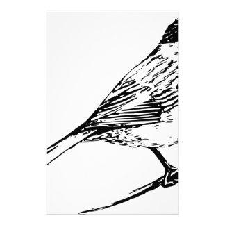 黒によっておおわれる《鳥》アメリカゴガラ 便箋
