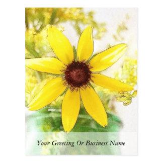 黒によってスーザンの注目される花束 ポストカード
