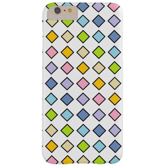 黒によって輪郭を描かれるパステル調の虹のダイヤモンド BARELY THERE iPhone 6 PLUS ケース