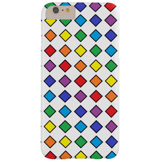 黒によって輪郭を描かれる虹のダイヤモンド BARELY THERE iPhone 6 PLUS ケース