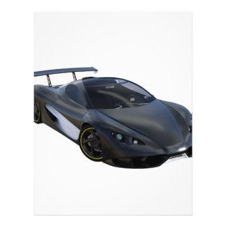黒のお洒落な高性能車 レターヘッド