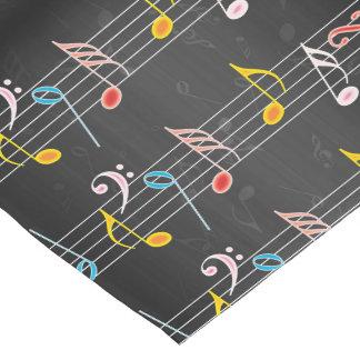 黒のすてきな音楽ノート ショートテーブルランナー