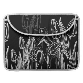 黒のばら色の芽 MacBook PROスリーブ