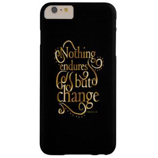 黒のやる気を起こさせるな引用文の金ゴールドを変えて下さい BARELY THERE iPhone 6 PLUS ケース