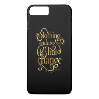 黒のやる気を起こさせるな引用文の金ゴールドを変えて下さい iPhone 8 PLUS/7 PLUSケース