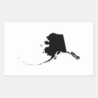 黒のアラスカ 長方形シール