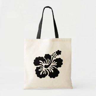 黒のアロハ花 トートバッグ