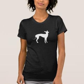 黒のイタリアン・グレーハウンドの白 Tシャツ