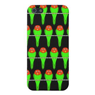 黒のインコの鳥Pern iPhone 5 カバー