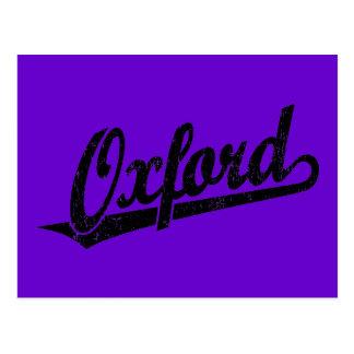 黒のオックスフォードの原稿のロゴ ポストカード