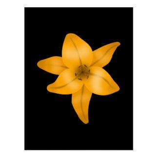 黒のオニユリの花 ポストカード