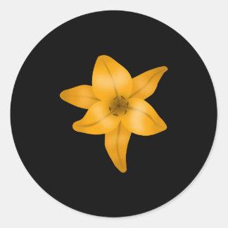 黒のオニユリの花 ラウンドシール