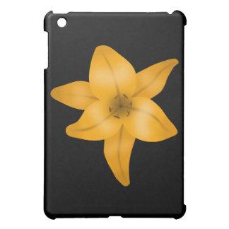 黒のオニユリの花 iPad MINI CASE
