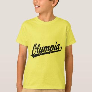 黒のオマハの原稿のロゴ Tシャツ