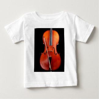 黒のクラシックなチェロ ベビーTシャツ
