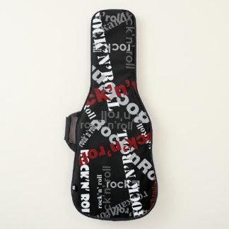 黒のクールなロックンロールのタイポグラフィパターン ギターケース