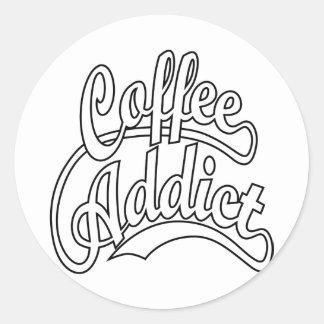 黒のコーヒー常習者 ラウンドシール