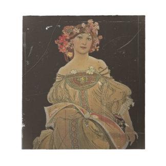 黒のシャンペンの女性 ノートパッド