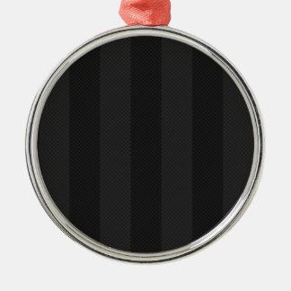 黒のストライプのクラシックな黒 メタルオーナメント