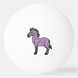 黒のストライプを持つ薄紫のシマウマ 卓球ボール