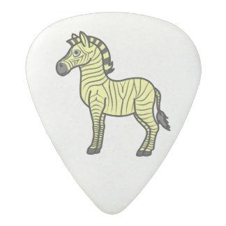 黒のストライプを持つ黄色いシマウマ アセタール ギターピック