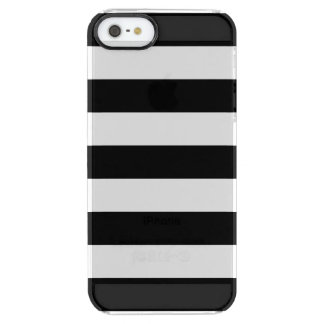 黒のストライプ|の珍しいiPhoneの場合 クリア iPhone SE/5/5sケース