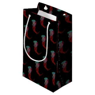 黒のネオンくらげ スモールペーパーバッグ