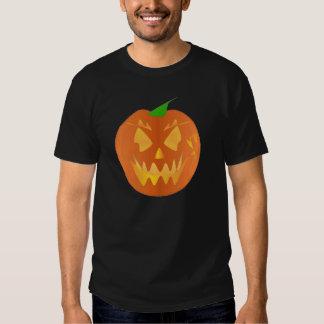 黒のハロウィンのカボチャ シャツ