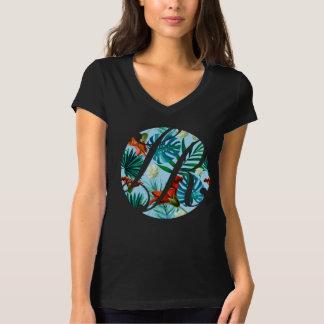 黒のハワイのLaのローザの不動産のロゴ Tシャツ