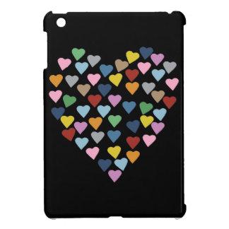 黒のハートのハート iPad MINIカバー