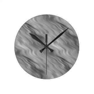 黒のバラの波状の質 ラウンド壁時計