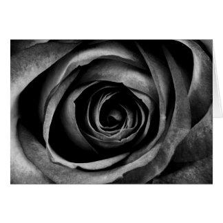 黒のバラの花の花の装飾的なヴィンテージ カード