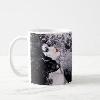 黒のバラ、Rhosyn DUの11のozのクラシックで白いマグ コーヒーマグカップ