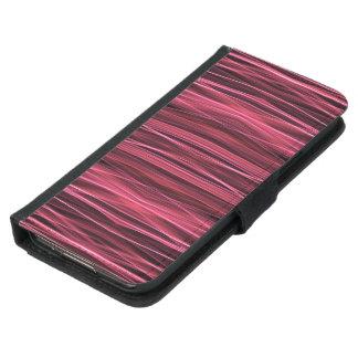 黒のピンクおよび赤線 GALAXY S5 ウォレットケース