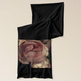 黒のピンクのバラ スカーフ